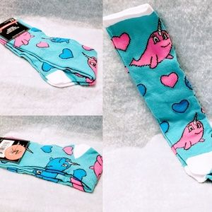 Accessories - Knee High Narwhal Socks size 5-9 Women's🆕🦄